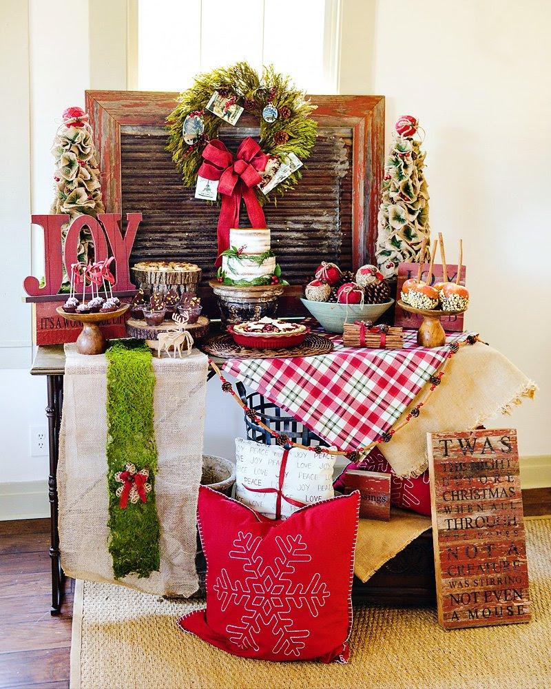 Rustic & JOYful Christmas Party Dessert Table // Hostess ...