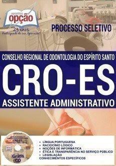 Apostila CRO - ES processo seletivo 2016.
