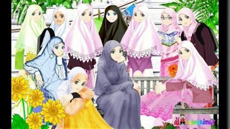 foto gambar kartun muslimah top gambar