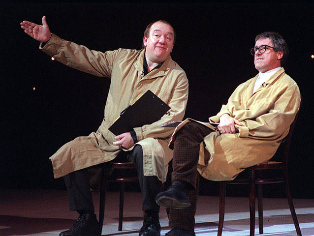 Mel Smith: Comedians Mel Smith and Griff Rhys Jones on stage