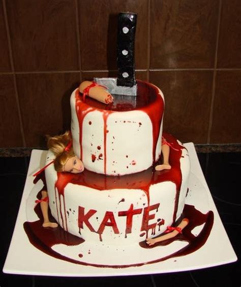 dexter cake ideas  pinterest bloody halloween