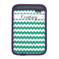 Emerald Chevron Personalized Ipad Mini Sleeve For iPad Mini