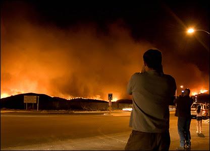 Wildfires in Irvine, California