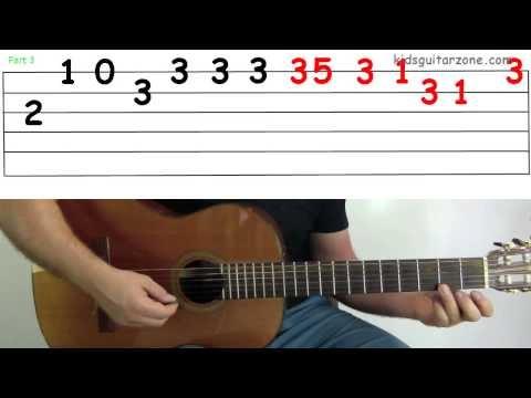 jingle bells tab chords beginner guitar lesson easy songs play
