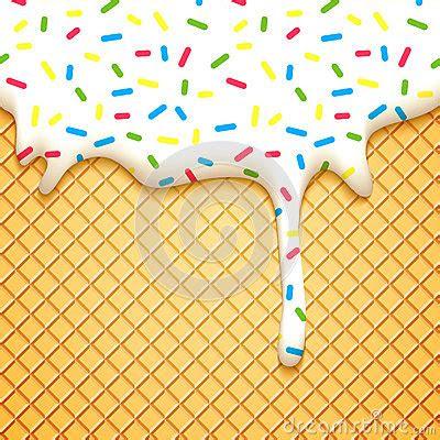 wafer cake  glaze stock vector image