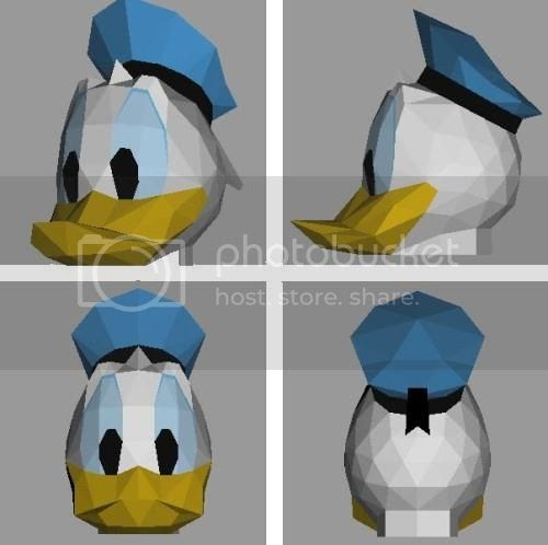 Papermau donald duck mask paper model by hyakunin for Donald model