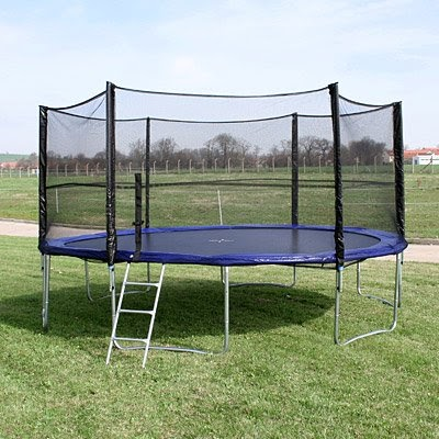xxl trampolin 4m gartentrampolin netz leiter neu trampoline. Black Bedroom Furniture Sets. Home Design Ideas