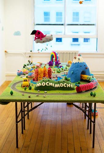 """Greetings from Mochimochi"" installation"