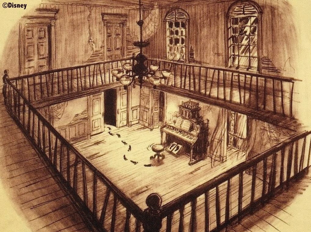 Long forgotten father of the haunted mansion part three for Haunted mansion blueprints
