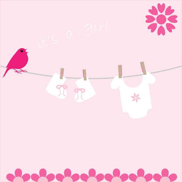 template baby card announcement girl Stock Free Photo Girl Baby  Announcement Public  Card