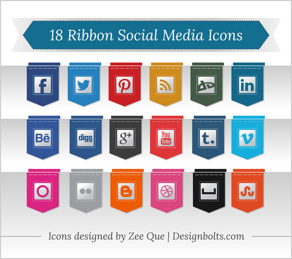 18-Free-Ribbon-Social-Media-Icons-pack