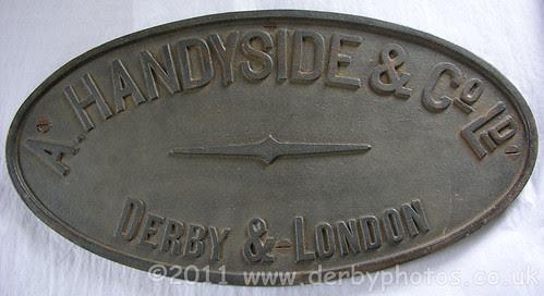 A. Handyside & Co Ltd badge from Handyside Bridge, Derby.