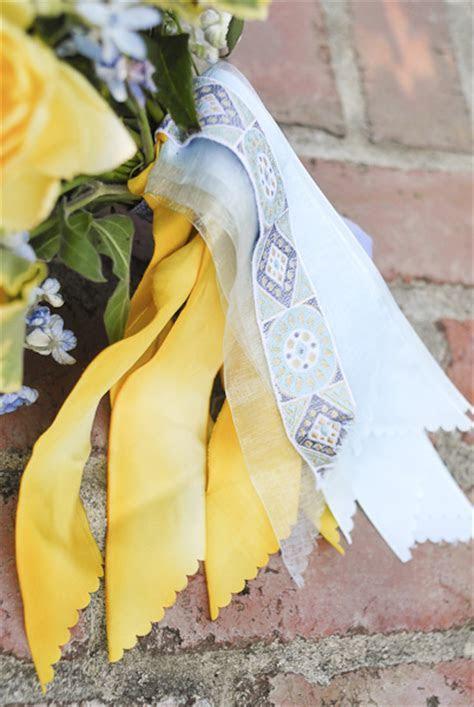 Butter Yellow and Blue Bouquet   Bouquet Wedding Flower