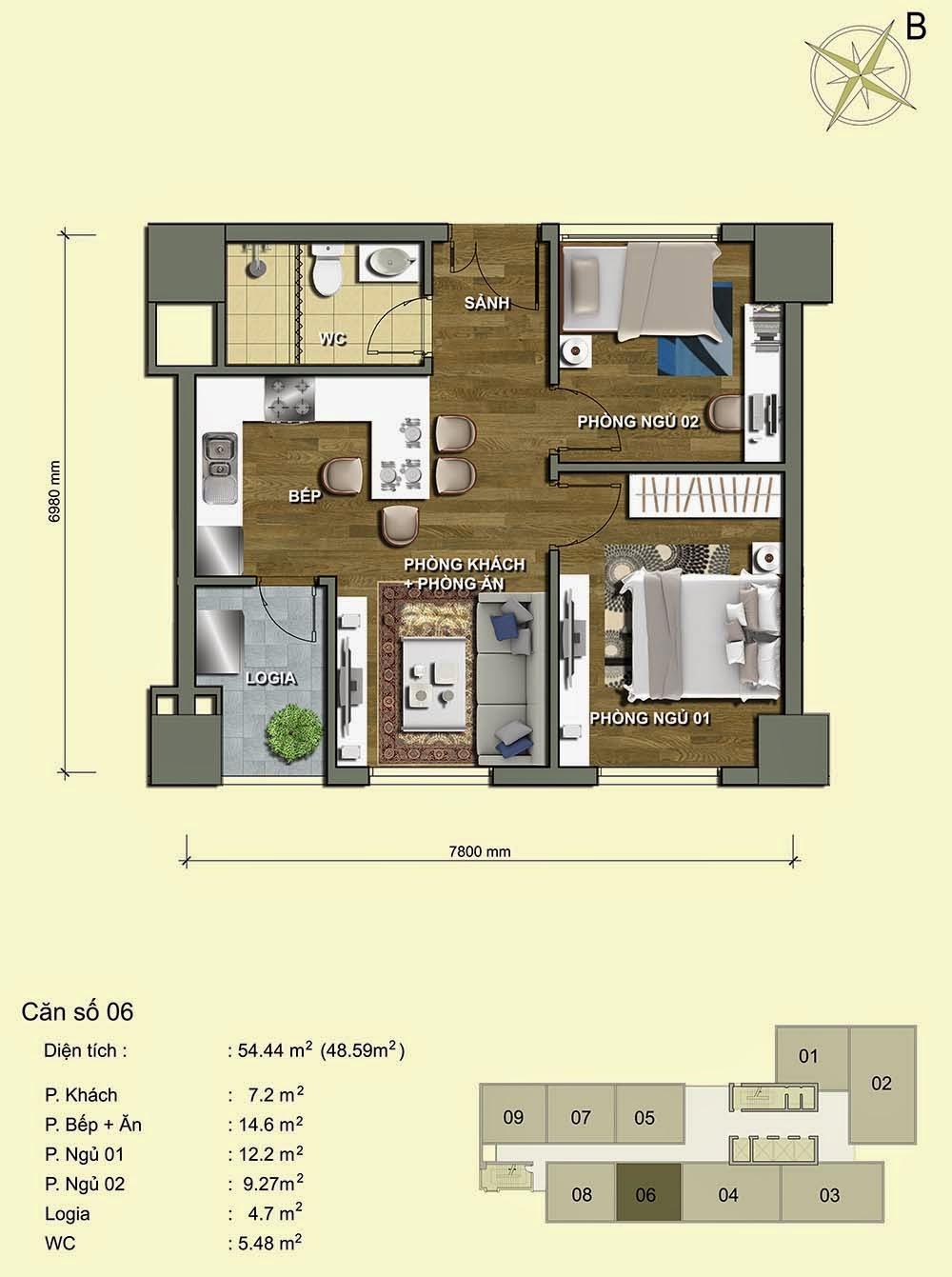 Căn số 06 - Park View Residence