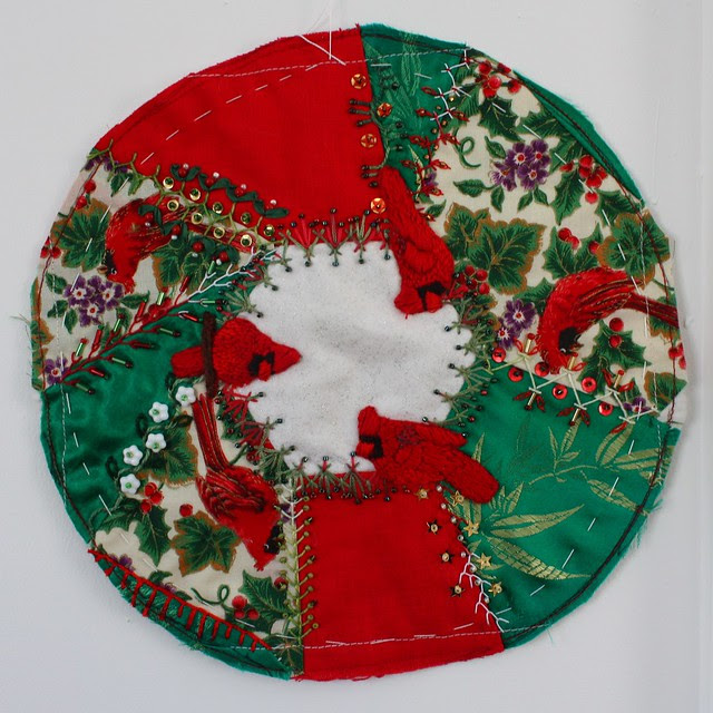 Wreath of Cardinals for Pincushion