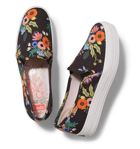 RIFLE PAPER Co. Lively Floral Triple Decker Slip On