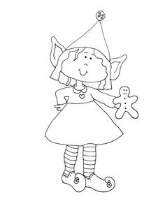 girl elf coloring page at getcolorings  free