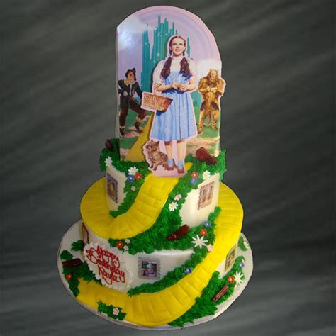 Yellow Brick Wizard of Oz Cake   Movie Themed Cakes