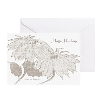 Happy Holidays Poinsettia Greeting Cards (20 pack)