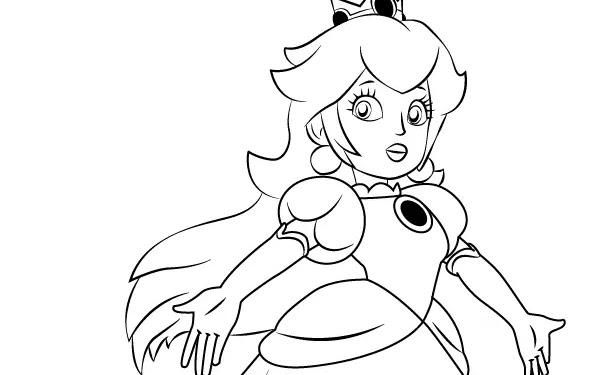 Mario And Princess Peach Drawing