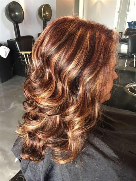 dark brown hair  medium brown lowlights red hair