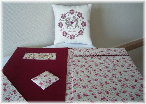 Coussin anges + porte grille 2