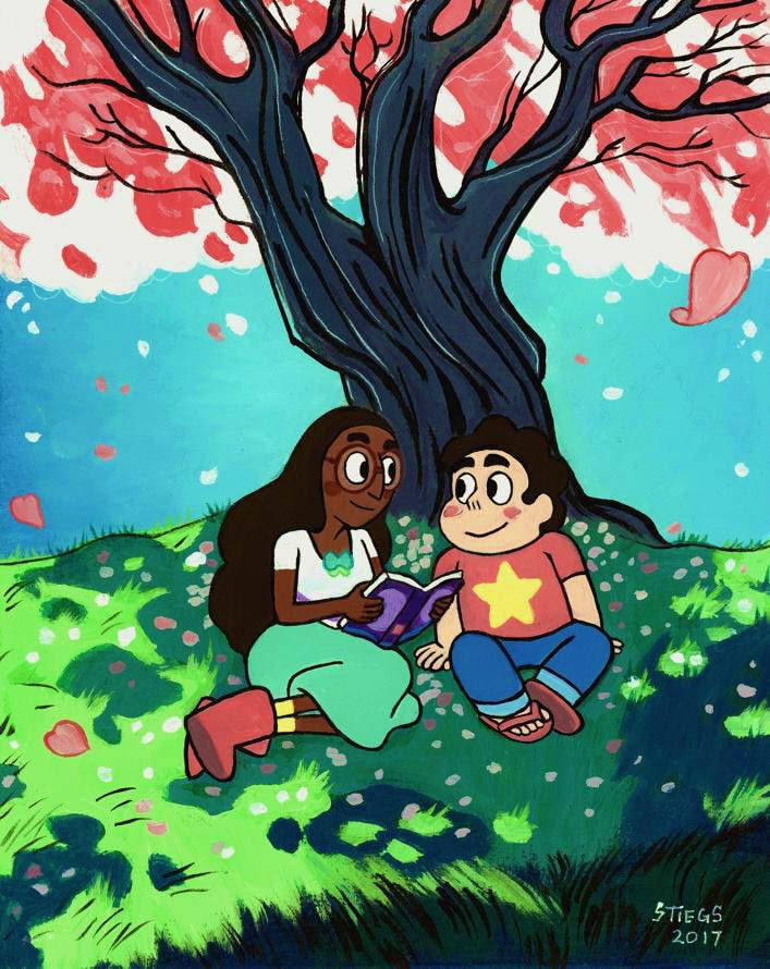 """"""" I want to, Steven. I want to be a part of your universe. """" —– art by @stiegsart"""