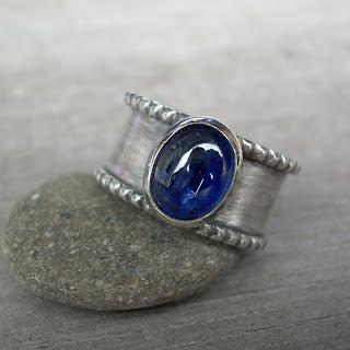 kyanite silver ring