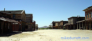 The main Mescal movie street. Photo copyright 2003-2004 Mike Durrett. All rights reserved.