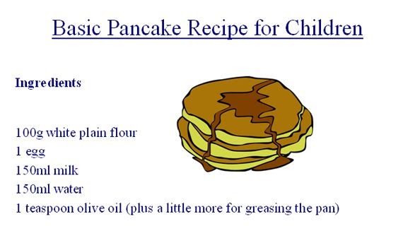 Easy pancake recipe for kids easy jessica maine blog ccuart Images
