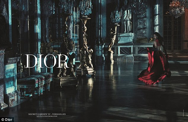 Opulence and glamour: The images for the campaign were taken at the luxurious Palace of Versailles in Paris