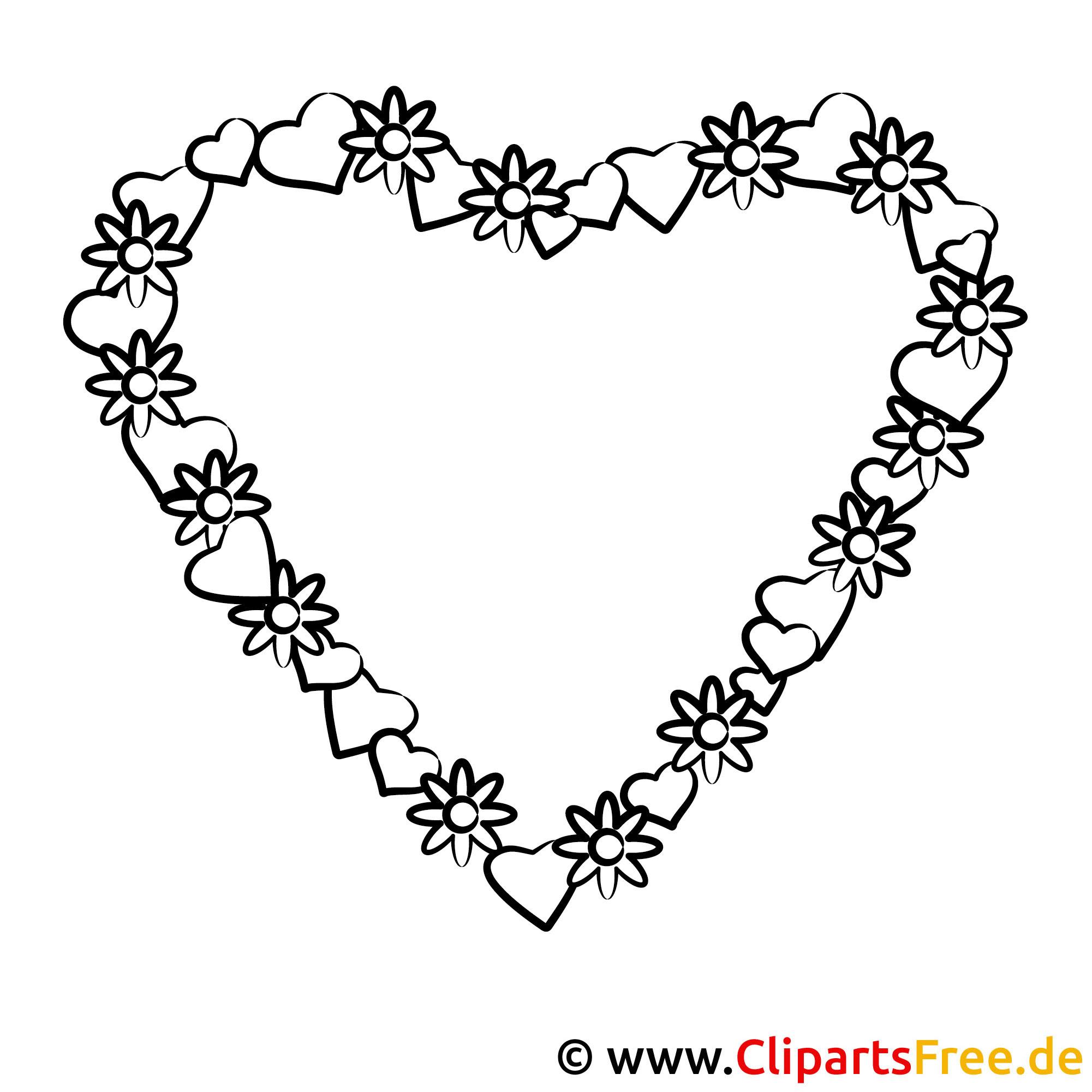 titel der malvorlage herz aus blumen valentinstag