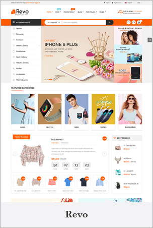 Revo - Creative Multi-Purpose Responsive Shopify Drag & Drop Sections Theme