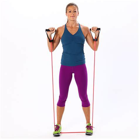 easy resistance band exercises popsugar fitness