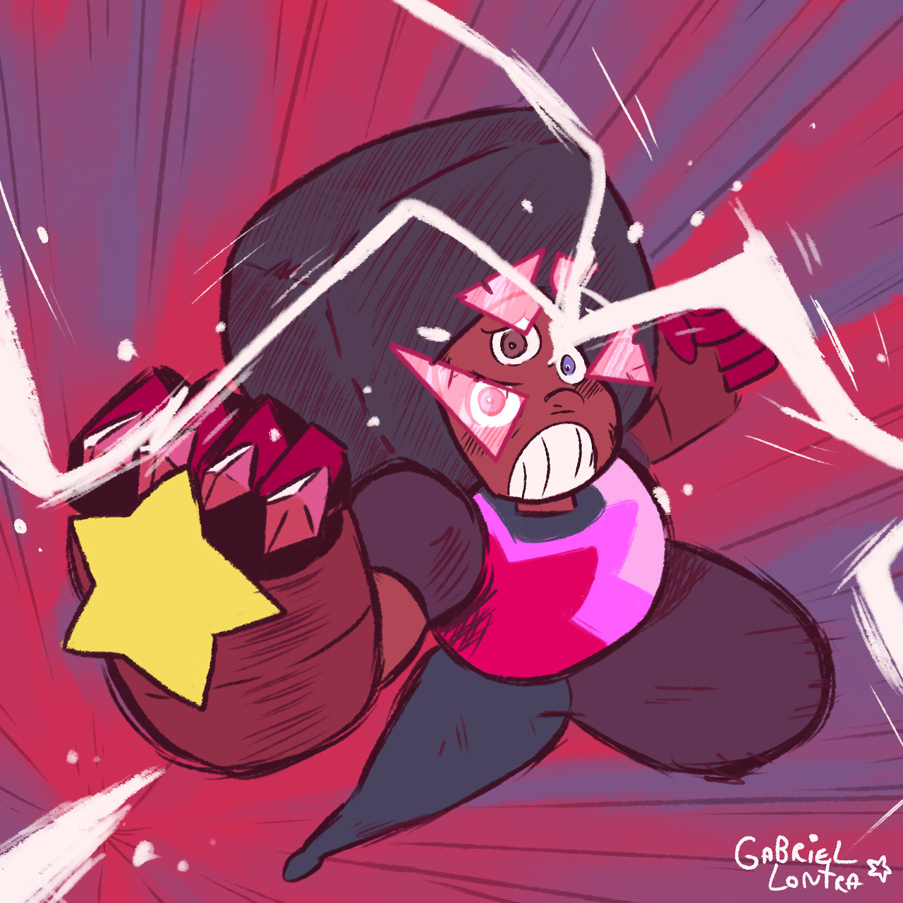 I did a Garnet! (also trying a new signature)