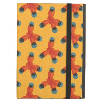 Chemistry Geek Pattern Orange Methane Molecule iPad Air Case