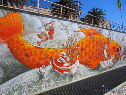 Arte Urbana by Mário Belém - Peixe laranja/Imaginário no CAE na Figueira da Foz Portugal - Desenhos (6) [en] Urban art by Mário Belém - Orange Fish/Imaginary in Art Center Figueira da Foz, Portugal