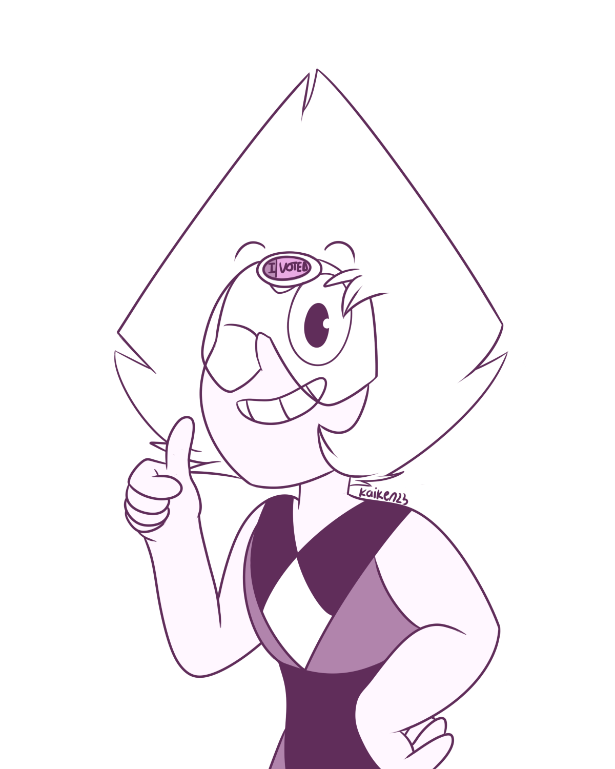 "Day 63 and 64 - ""I voted"" and ""Vote for president Peridot"""
