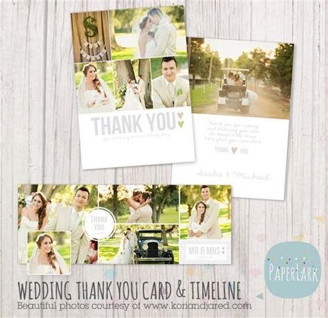 Wedding Thank You Card and Facebook Timeline Bundle