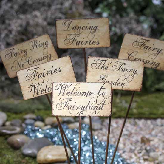 garden Fairy    sign Fairy rustic Rustic Dollhouse  Sign Garden Garden Miniatures
