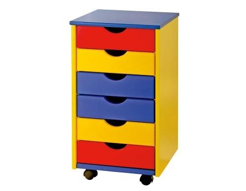 Caisson bureau ronny mobile meuble enfant rangement bois - Bureau enfant bois massif ...