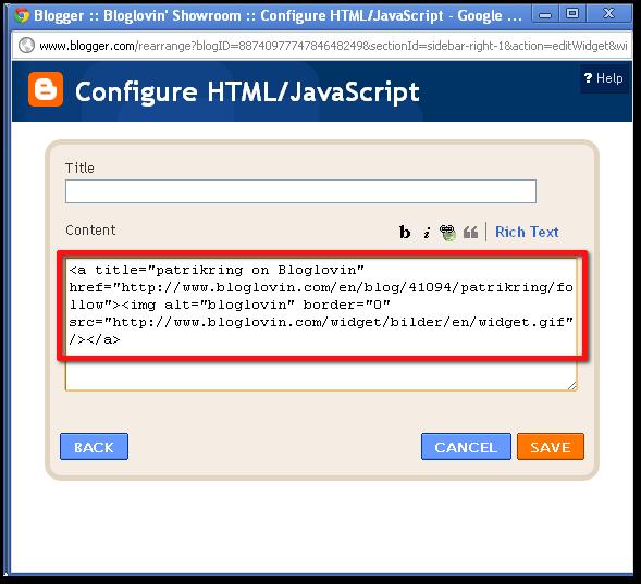 Insert HTML code