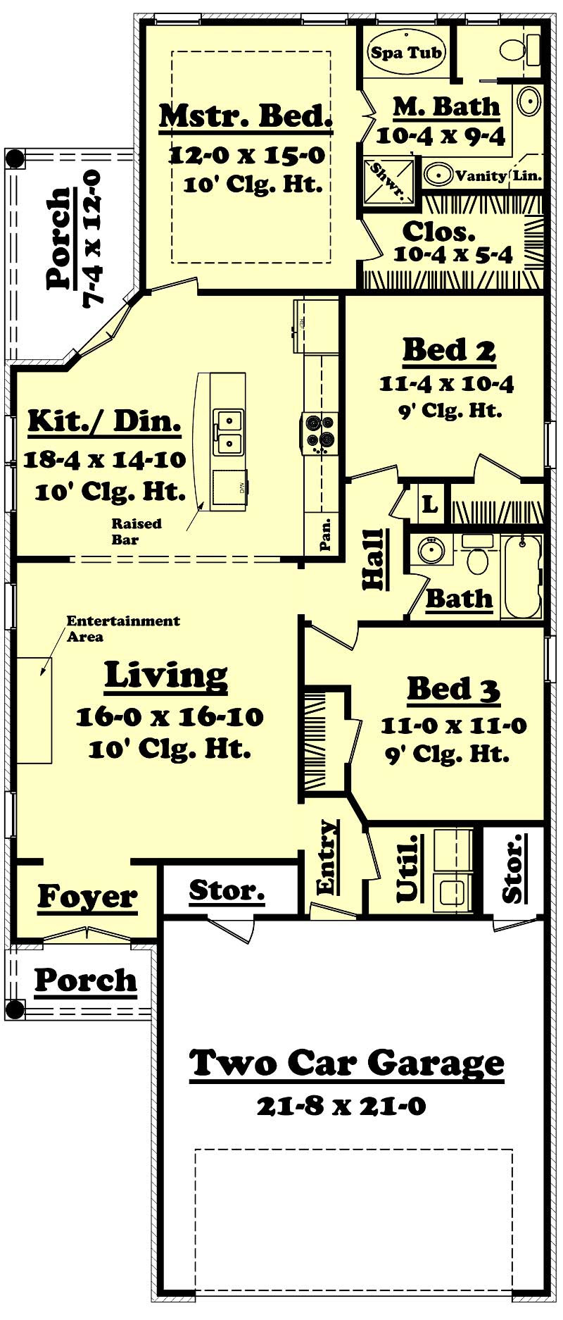 Small House Plans  Home Design 14005