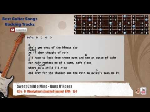 Best Songs Backing Tracks BSBT: Sweet Child O\' Mine - Guns N\' Roses ...