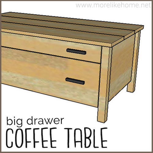 diy coffee table building plans drawers