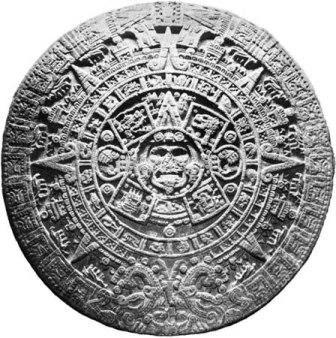 photo of Aztec calendar stone