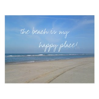 Beach is my Happy Place Postcards