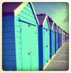 The newly decorated 'beach' 'huts'.