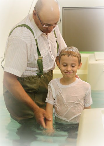 The Little Guy gets Baptized