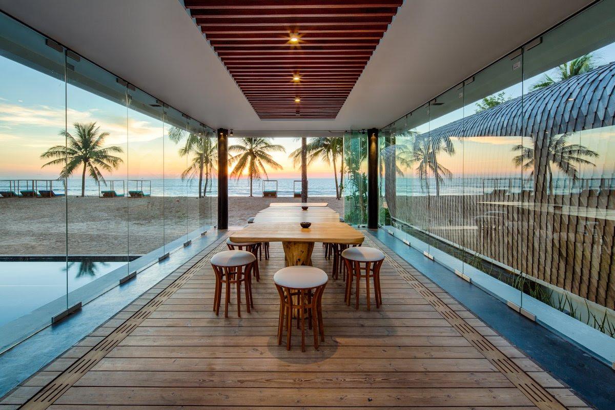 Dining Room Glass Walls Beach View Iniala Beach House Phuket Thailand